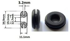 "Original 3/4"" (19mm) Lucas Black Rubber Wiring Grommet With 1/2"" Internal Hole"