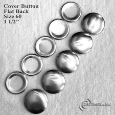 25 Flat Back Cover Buttons - Size 60 (1 1/2 inch) - FREE SHIPPING
