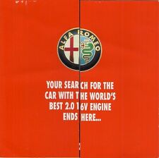 Alfa Romeo 145 Cloverleaf & 146 ti 1995-96 UK Market Launch Mailer Brochure