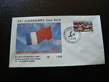 FRANCE - enveloppe 21/12/1990 27e congres du PCF (cy7) french (i)