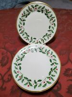 LENOX HOLIDAY set of 5.  8 1/8 Salad Plates. In Very good Condition.