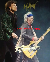 Mick Jagger & Keith Richards Autographed Signed 8x10 Photo Reprint
