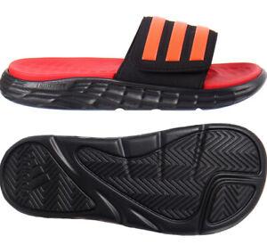 adidas DURAMO SL Slide Slippers Unisex Casual Gym Swimming Black Red NWT FY8787