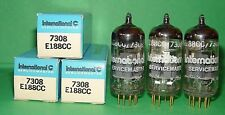 3 Amperex Holland IEC E188CC 7308 Gold Pins Vacuum Tubes Very Strong & Balanced