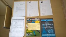 TICKET PSG FOOTBALL NAPLES-PSG 1992+DOCUMENTS-BIGLIETTO DELLA PARTITA SSC NAPOLI