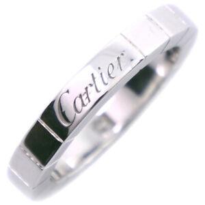CARTIER 1PD Laniere Ring K18 white gold/diamond #7(JP Size) Women