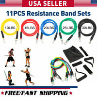 HOGYME 11 PCS Resistance Bands Yoga Pilates Abs Exercise Fitness Tube Workout