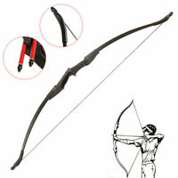 Archery Recurve Bow Takedown Laminated Longbow Target Shooting Hunting Practice