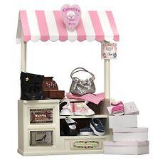 "18"" Doll Furniture,COMPLETE Interchangeable Shoe Shop, Signs,Cash Register,Shoes"