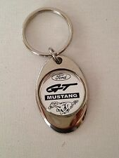 Ford Mustang GT Keychain Lightweight Metal Chrome Style Finish Key Chain