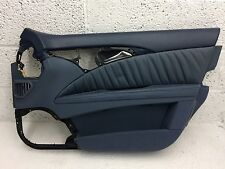 MERCEDES E CLASS W211 S211 O/S DRIVER FRONT DOOR CARD BLUE LEATHER GREAT COND