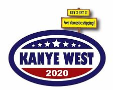 Kanye West  Blue Oval Decal Sticker 2020 for President Campaign p122