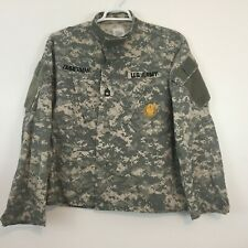 ACU US Military Army Shirt Size M Short Combat Jacket Sewing Patch Digital Camo