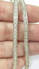 "Sterling Silver Vintage 18"" 3.8m Wide Textured Necklace Chain Heavyish 14g N4"