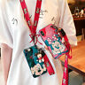 Cute Disney cartoon Minnie Doll Strap case Cover for iPhone 11 Pro Max XS 6 7 8+