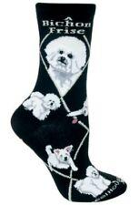 BICHON FRISE Socks~Wheel House~M~Great Gift! Mix n' Match 4th Pair FREE Sale!