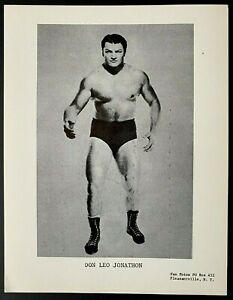 1960s Vintage Wrestling Publicity Photo Champion Wrestler Don Leo Jonathan