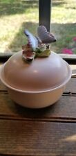 Vintage Fitz and Floyd Two Piece Trinket Box with Butterfly 1382