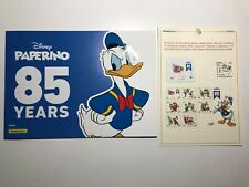 2020 Poste Folder 85° Paperino Donald Duck 8 Tessere + Bollettino Illustrativo