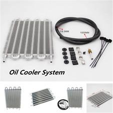 8 Row Remote Transmission Oil Cooler/Auto-Manual Radiator Converter Kit Aluminum