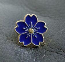 BLUE PURPLE POPPY SAKURA ENAMEL PIN BADGE