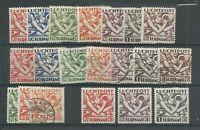 Suriname LP1-7, LP20-22 Luchtpost  VFU of  MH/ongebr  CV 65 €