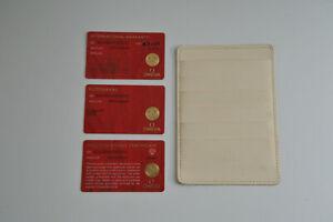 OMEGA 424.10.33.20.52.001 De Ville CERTIFICATE Wallet PICTOGRAMS WARRANTY Stones