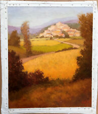"""""""Paysage de la Drôme"""" south France country  Original Oil Painting Signed: """"greg"""""""