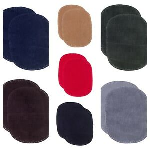 Kleiber Cord Repair Patches Elbow Knee Beige Black Brown Grey Navy Red Green x 2