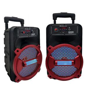 Top Tech Audio Rechargeable Speaker 1500 Watts 8Inch Bluetooth FM Radio
