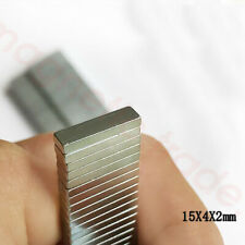 15mmx4mmx2mm Strong Bar Block Magnet Rare Earth Neodymium N50 5/8''x1/6''x1/12''