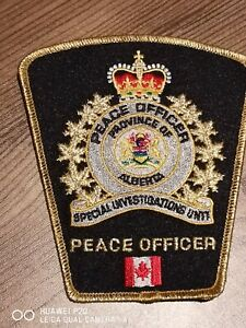 Rare Alberta Special Investigations Unit, Peace Officer Canada patch!