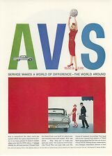 1959 Avis Rental Car Ad Ford Mid Century Modern Style Design Graphics
