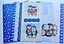 Kanban Cute Penguin Christmas Die Cut Foiled Toppers,Card, Insert Kit 54373