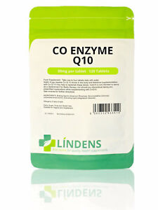 CoEnzyme Q10 (coq10) 30mg Tablets (120 pack) energy heart gums Lindens