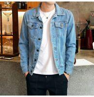 New Men Spring Autumn Slim Denim Jackets Coat Boys Washed Retro Jean Coat Jacket