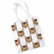 Cat Tote Print Bag - Bengal Cat Shopping Shoulder Bag Gifts