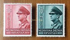 EBS Croatia Hrvatska NDH 1943 2nd Anniversary Independence Michel 100-101 MNH**