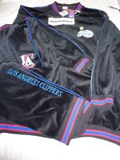 Los Angeles Clippers OUNK NWT NBA Black Velour 2pc Jacket Pants Warm-up Suit 3XL