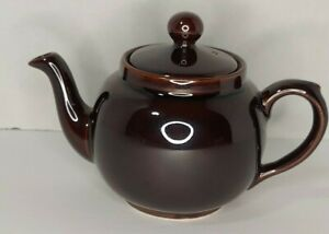 Vintage Brown Betty Salt Glazed Teapot Made In England By P&K