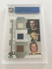 Terry Sawchuk/ Cheevers/ Ed Giacomin 2011 ITG Ultimate Vault 2-Jersey/Pad #1/1