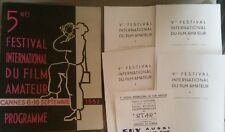 Konvolut 5me Festival International du Film Amateur Cannes 1952 Programme selten