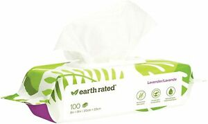 Earth Rated Lavender or Unscented DOG GROOMING WIPES 100 CT HYPOALLERGENIC