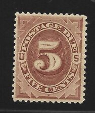 US 1884 5 cent Postage Due Stamp Scott J18 VF OGLH great appearance *creased* |