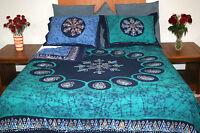 Handmade Cotton Reversible Duvet Cover Multi Batik Paisley Cotton Full Queen