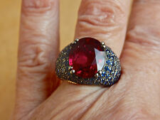 ABSOLUTELY GORGEOUS!!!  18K SOLID GOLD W/PINK TOURMALINE & SAPPHIRES -