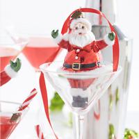 "4.75"" Glass RETRO SANTA Christmas ORNAMENT Eric Cortina RAZ IMPORTS NEW 3953011"