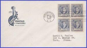 USA5 # 882 ADDR HOUSE OF FARNAM FDC BL4 Edward A. McDowell