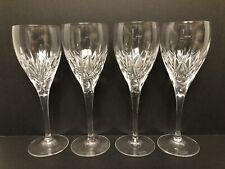 "Set of 4 Waterford Crystal Nocturne Wine Glass 7 3/4"" Tall"