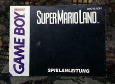 GameBoy Anleitung Super Mario Land NOE 1  Manual